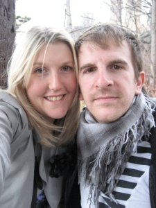 Our 'we're engaged selfie' 2008 NYC