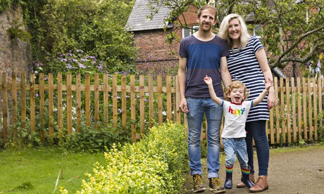 National Trust: the Hargreaves family in their front yard