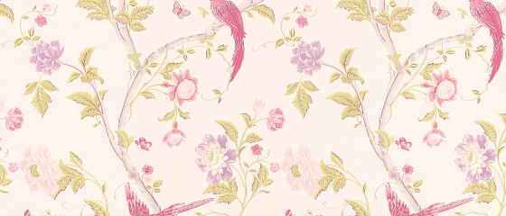 laura ashley wallpaper - summer palace cerise floral